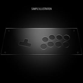 Blank Plexi Cover for MixBox Arcade 12 Panel
