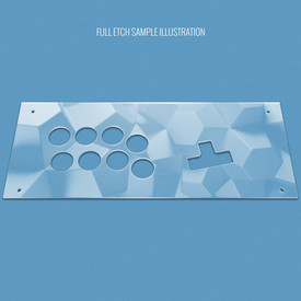 Custom Etch Plexi Cover for MixBox Arcade 12 Reverse Panel