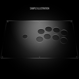 Blank Plexi Cover for PDP Injustice Battle Edition Panel
