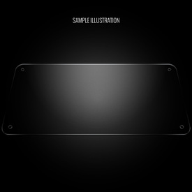 "Blank Plexi Cover for AllFightSticks 18"" Solid Bottom Panel"