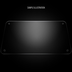 "Blank Plexi Cover for AllFightSticks 14.5"" Solid Bottom Panel"