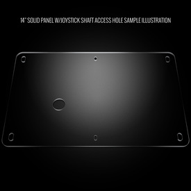 "Blank Plexi Cover for AllFightSticks 14"" Solid Bottom Panel"