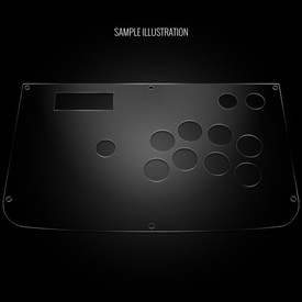 Blank Plexi Cover for for Hori RAP 2/3/EX Panel
