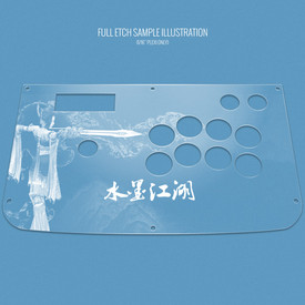 Custom Etch Plexi Cover for Hori RAP 3 Tekken Series (Kai)