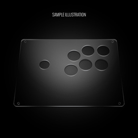 "Blank Plexi Cover for AllFightSticks 9.5"" Vewlix 6-Button Panel"