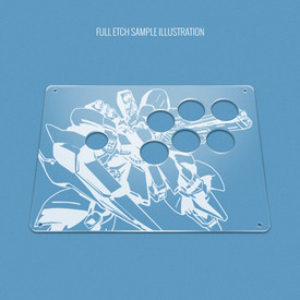 "Custom Etch Plexi Cover for AllFightSticks 9.5"" Vewlix 6-Button Panel"