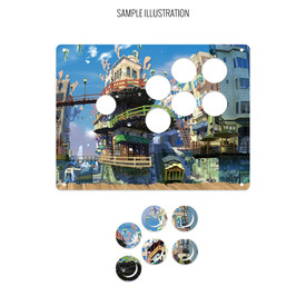 "Artwork Print and Cut for AllFightSticks 9.5"" Sega 2P 6-Button Panel"