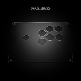 "Blank Plexi Cover for AllFightSticks 9.5"" Sega Player 2 6-Button Panel"