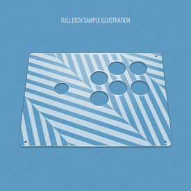 "Custom Etch Plexi Cover for AllFightSticks 9.5"" Sega 2P 6-Button Panel"