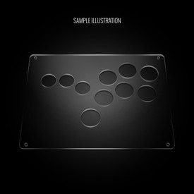 "Blank Plexi Cover for AllFightSticks 9.5"" Stickless 6-Button Panel"