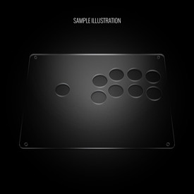 "Blank Plexi Cover for AllFightSticks 9.5"" Stickbox Panel"