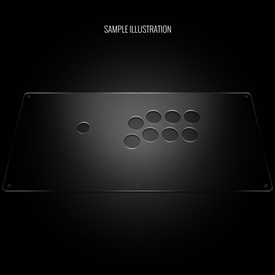 "Blank Plexi Cover for AllFightSticks 18"" Vewlix Extended Panel"