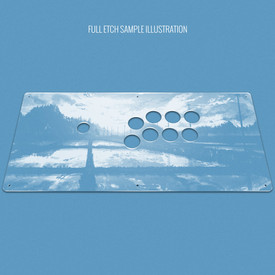 "Custom Etch Plexi Cover for AllFightSticks 18"" Vewlix Extended"