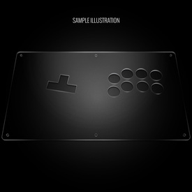 "Blank Plexi Cover for AllFightSticks 14"" WASD Stickless Panel"