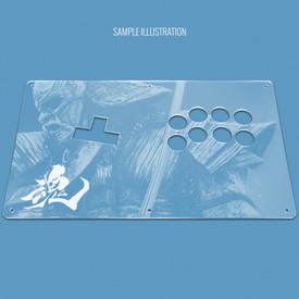 "Custom Etch Plexi Cover for AllFightSticks 14"" WASD Stickless Panel"