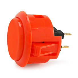 Sanwa OBSF 30mm Pushbuttons Vermillion