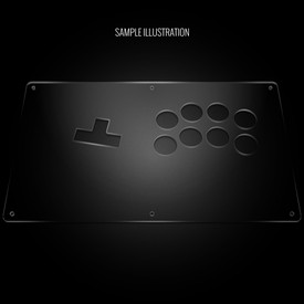 "Blank Plexi Cover for AllFightSticks 14"" WASD Shiokenstar Panel"