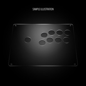 "Blank Plexi Cover for AllFightSticks 9.5"" Vewlix 8-Button 24mm Panel"