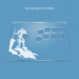 "Custom Etch Plexi Cover for AllFightSticks 9.5"" Vewlix 8-Button 24mm Panel"