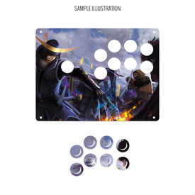 "Artwork Print and Cut for AllFightSticks 9.5"" Sega 2P 8-Button 24mm Panel"