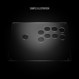 "Blank Plexi Cover for AllFightSticks 9.5"" Sega Player 2 8-Button 24mm Panel"