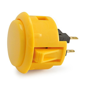 Sanwa OBSF 30mm Pushbuttons Yellow