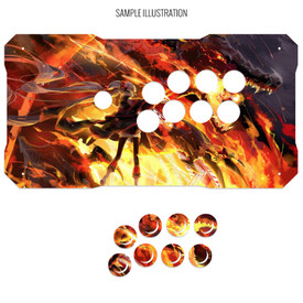 Artwork Print and Cut for BNB Fightstick Gen 1 Vewlix Panel