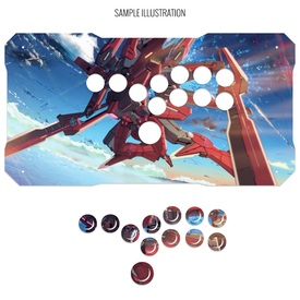 Artwork Print and Cut for BNB Fightstick Gen 1 Allbutton Panel