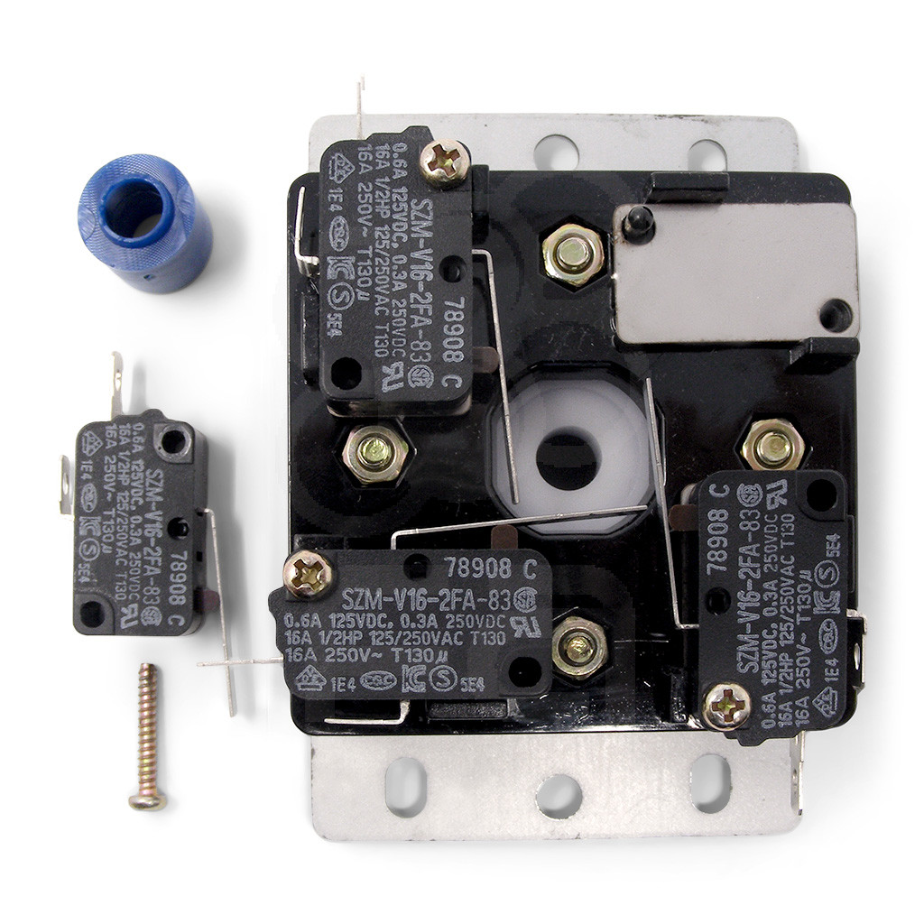 Metal panel above microswitches