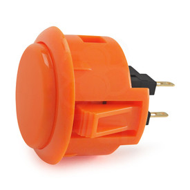 Sanwa OBSF 30mm Pushbuttons Orange