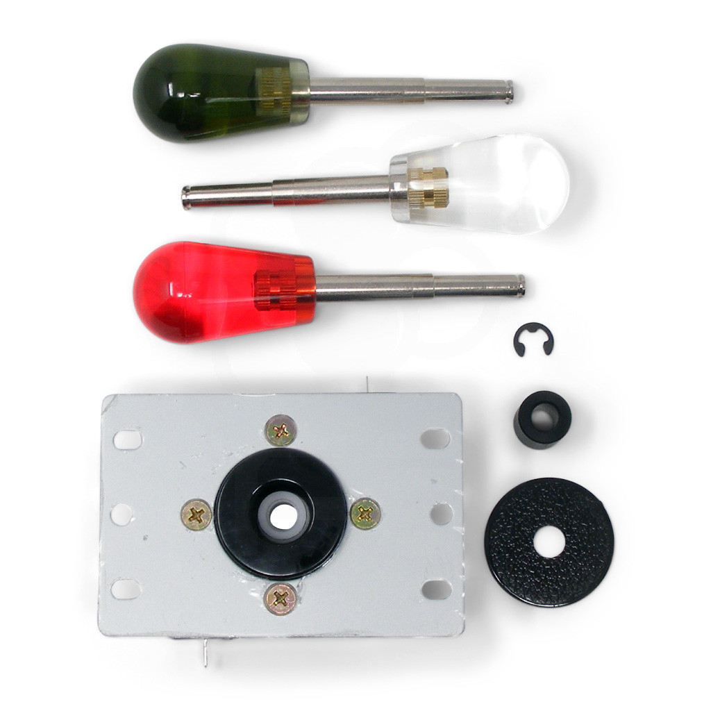Parts included: base with low profile collar, battop of choice, actuator, dustwasher, and e-clip