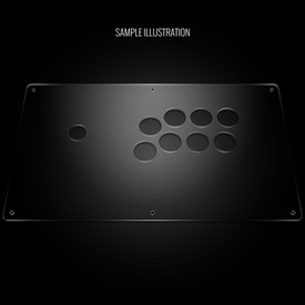 "Blank Plexi Cover for AllFightSticks 14.5"" Extended Vewlix Panel"