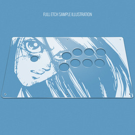 "Custom Etch Plexi Cover for AllFightSticks 14.5"" Extended Vewlix Panel"