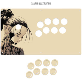 """Artwork Print and Cut for AllFightSticks 14.5"""" Extended Vewlix Panel"""