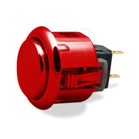 Sanwa OBSJ 24mm Pushbutton Metallic Red