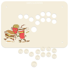 Artwork Print and Cut for Junk Food Arcades Snackbox Button Only Comfort Panel