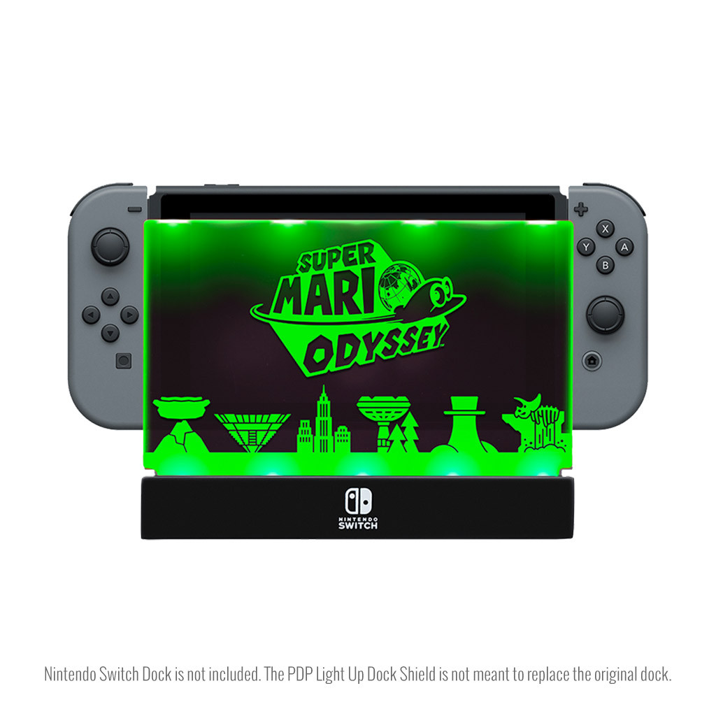 Super Mario World Odyssey panel with Green LED