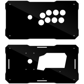 BNB Black Gloss Plexi Fightstick Replacement Panel - Vewlix 8