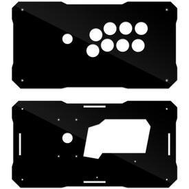 BNB Fightstick Gen 1 Black Gloss Plexi Replacement Panel - Vewlix 8