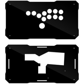 BNB Black Gloss Plexi Fightstick Replacement Panel - All Button Layout
