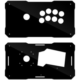 BNB Fightstick Gen 1 Black Gloss Plexi Fightstick Panel - Korean Noir 8 Layout