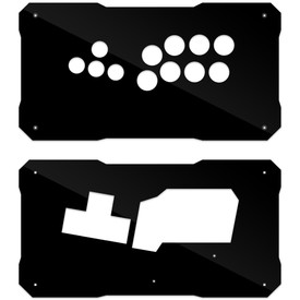 BNB Black Gloss Plexi Fightstick Replacement Panel - WASD Layout