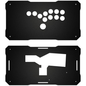 BNB Fightstick Gen 1 Black Matte Plexi Replacement Panel - All Button Layout