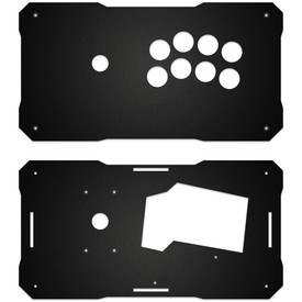 BNB Black Matte Plexi Fightstick Replacement Panel - Noir 8 Layout