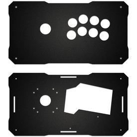 BNB Black Matte Plexi Fightstick Replacement Panel - Korean Noir 8 Layout