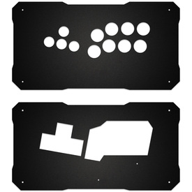BNB Fightstick Gen 1 Black Matte Plexi Replacement Panel - WASD Layout