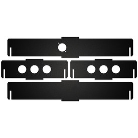 BNB Black Matte Plexi Fightstick Replacement Side Panels - 2.0 Inches