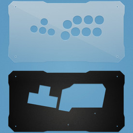 BNB Clear/Black Matte Plexi Fightstick Replacement Panel - WASD Layout
