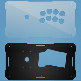 BNB Clear/Black Matte Plexi Fightstick Replacement Panel - Noir 8 Layout
