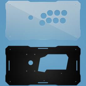 BNB Clear/Black Matte Plexi Fightstick Replacement Panel - Vewlix 8